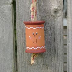 CYBER MONDAY ETSY Sale - 10% Off - Gingerbread Man Spool Ornament