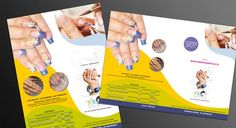 Single page brochure design for nail treatment beauty saloon Flexi Print Printing Services, Online Printing, Saloon, Nail Treatment, Personalized Products, Letterhead, Invitation Cards, Creative Design, Brochure Printing