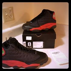 huge selection of b4695 94d12 Jordan Shoes   Air Jordan Retro 13 Bred Sz. 8   Color  Black Red   Size  8