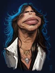 Steven Tyler  FOLLOW THIS BOARD FOR GREAT CARICATURES OR ANY OF OUR OTHER CARICATURE BOARDS. WE HAVE A FEW SEPERATED BY THINGS LIKE ACTORS, MUSICIANS, POLITICS. SPORTS AND MORE...CHECK 'EM OUT!!