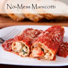 Skip the over-priced pasta and whip up this creamy manicotti at home in just 30 minutes. Fresh basil and sharp Parmesan top off this simply sensational recipe. Pasta Dishes, Food Dishes, Main Dishes, Pasta Sauces, Food Food, Slow Cooker Recipes, Cooking Recipes, Homemade Tomato Sauce, Chicken Breast Recipes Healthy