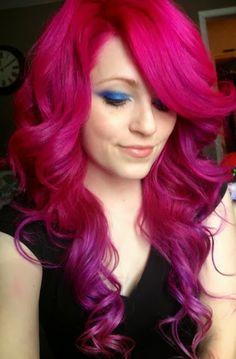 #Magenta #Ombre #Mood #Board #Hair #Purple