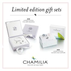 We have got these lovely Chamilia LIMITED EDITION gift sets in stock, perfect for a special birthday or a big Thank You!  Contact us on 01702603842 to place your order!