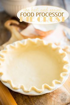 Once you've tried making pie crust in the food processor, you'll never go back. Get the same delicious results in just minutes, completely mess-free!