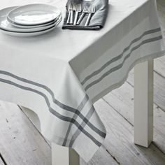 Gingham Border Tablecloth