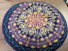 "Annmarie's ""Midnight Sun Tam,"" knit in Jamieson's Shetland Spindrift."