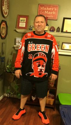 My Ugly Bengals Sweater Cincinnati Bengals, Christmas Sweaters, Sports, Tops, Fashion, Hs Sports, Moda, Fashion Styles, Christmas Jumper Dress