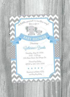 118 best boy elephant baby shower theme ideas images on pinterest in elephant baby shower invitation elephant baby boy invitation little peanut baby shower invitation little peanut shower blue and grey filmwisefo