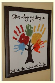 So cute definatley making one of these 10 Handprint Family Keepsake Crafts