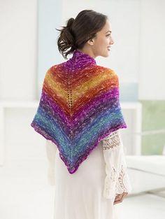 Sedona Triangle Shawl in a ball pattern by Lion Brand Yarn
