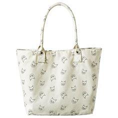 Cat Print Tote Handbag