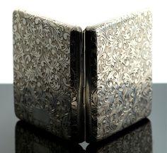 Antique Sterling Silver Engraved Cigarette Case