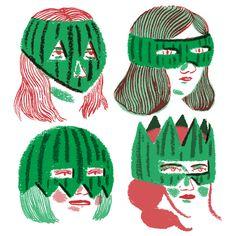 Watermelonwomen by Cristina Daura (http://www.behance.net/cristinadaura)
