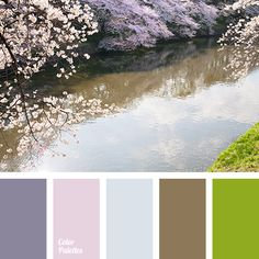 """dusty"" brown color, ""dusty"" pink color, ""dusty"" violet color, brown color, color combination for early spring, color of sakura blossom, lime color, pale lilac color, pink color, sky color, spring colors 2016, spring shades, violet color, woody color."
