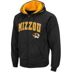 Missouri Tigers Arch & Logo Full Zip Hoodie - Black