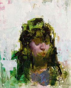 """John Wentz - """"Imprint No. 4"""" - oil on canvas - 12.75"""" x 15.75"""" (2015)"""