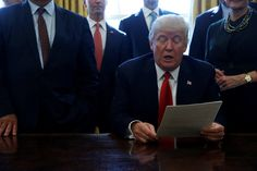 Trump signs executive order targeting regulations that are deemed unnecessary #Politics #iNewsPhoto