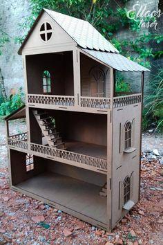 Casinha incrível e enorme para as crianças brincarem de Barbie, um encanto!
