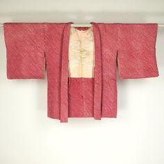 Red pink, haori / 赤色の総絞りの羽織   #Kimono #Japan http://global.rakuten.com/en/store/aiyama/
