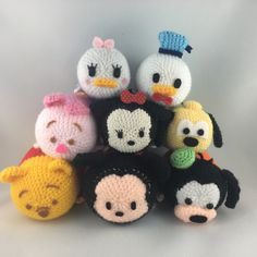 Disney crochet Tsum Tsum collection #crochet  #amigurumi #disney #tsumtsum