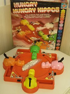 Vintage Hasbro Hungry Hippos Game 1978