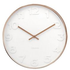 Karlsson Mr. White Numbers Wanduhr Kupferfarben, LOVINHOME · Copper Wall Contemporary ...