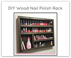 DIY Wood Nail Polish Rack/Organization