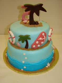 Pool Party Birthday Cake by JMC Custom Cakes, via Flickr