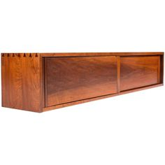 George Nakashima Wall Hanging Cabinet | From a unique collection of antique and modern cabinets at https://www.1stdibs.com/furniture/storage-case-pieces/cabinets/