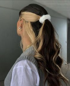 Hair Color Streaks, Hair Color Purple, Hair Dye Colors, Hair Highlights, Blonde Color, Hair Streaks Blonde, Fun Hair Color, Hair Colour Ideas, Hair Inspo