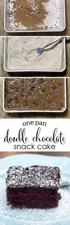 One Pan Double Choco