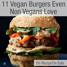 RecipeTin Eats   11 Vegan Burgers Even Non Vegans Love