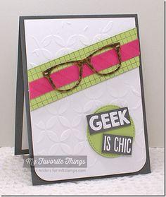 Cheetah Background, Geek Is Chic, Grid Background, Striped Background, Geek Is Chic Glasses Die-namics, Stitched Circle STAX Die-namics, Petal Circles Stencil - Barbara Anders #mftstamps