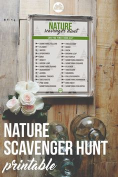 Turn your next hike or camping trip into a game for the whole family! This Nature Scavenger Hunt Printable will keep all explorers on the lookout!