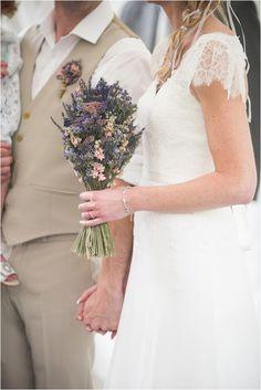 lavender bridal bouquet | Image by Fleur Challis Photography