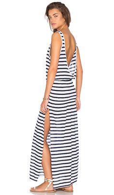 da0349514015d9 AUGUSTE Effortless Basic Dress in Classic Stripe