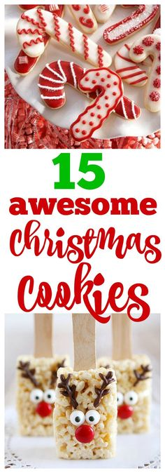 15 Awesome Christmas Cookies to Make This Year #christmascookies #christmas