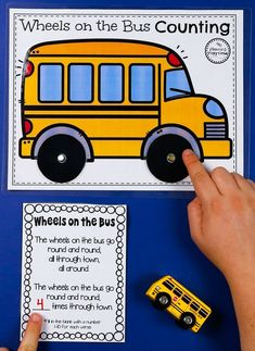 Wheels on the bus Spin and Count Song - Preschool Counting Transportation Preschool Activities, Creative Curriculum Preschool, Transportation Theme Preschool, Transportation Worksheet, Rhyming Activities, Preschool Special Education, Toddler Learning Activities, Kindergarten Colors, Preschool Colors
