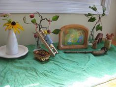 September.. love the little apple tree! Month  to month nature tables.