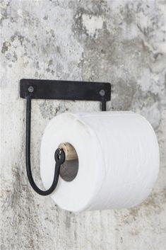 TOILETROLHOUDER houten roll ~Black~