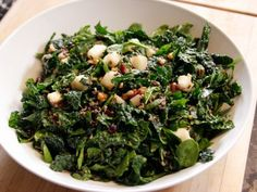 Ina & Bobby Thanksgiving salad - Heartland Chopped Salad with kale, spinach, cranberries, pears & pomegranate molasses dressing