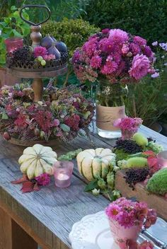 Herbst is the German word for autumn or fall. Herbst may also refer to: Fruits Decoration, Decoration Plante, Decoration Table, Table Violet, Purple Table, Outdoor Thanksgiving, Deco Nature, Autumn Table, Beautiful Table Settings