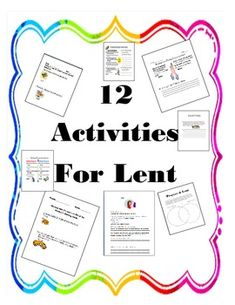 LENT AND EASTER ACTIVITIES AND PRAYERS - TeachersPayTeachers.com