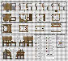 Poppy Cottage - Medium Minecraft House Blueprints by planetarymap on DeviantArt house schematics Minecraft Small House, Minecraft World, Modern Minecraft Houses, Minecraft House Plans, Minecraft Farm, Minecraft Houses Survival, Minecraft House Tutorials, Minecraft House Designs, Minecraft Tutorial