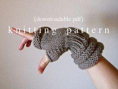 Rome Wristwarmers Knitting Pattern - PDF document digital download - how to instructions - fiber craft diy knit