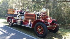 1912 Ahrens Fox firetruck. ...  this thing was a gas to drive. ...