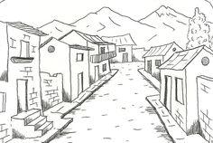 Dibujos de paisajes hermosos para colorear | Imagenes De Paisajes ...                                                                                                                                                      Más