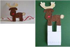 reno de navidad en papel