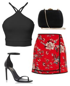 """""""Girl •"""" by blue-m00n ❤ liked on Polyvore featuring River Island, Yves Saint Laurent and Serpui"""