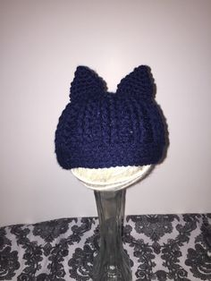 DragonballZ inspired Baby Trunks Hat! Hat pictured is inspired by one of DragonballZ characters Trunks. Hat pictured is for newborn babies! Can